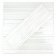 Uptown Glass Stripes White Subway Tile by Soho Studio UPGLSSTP4X12BTWT