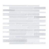 Uptown Glass Textile Silver Planks Interlocking Tile by Soho Studio UPGLSTEXSLVRPLNK