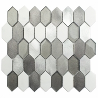 Vertex Cold Mist Glass Tile by Soho Studio VERTEXCLDMST
