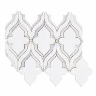 Viola White Thassos Arabesque Marble Tile by Soho Studio MJVIOLA