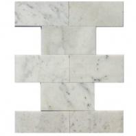 White Carrara 3x6 Polished Marble Subway Tile by Soho Studio WTCR3X6