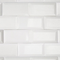 White Thassos Beveled Edge 3x6 Marble Subway Tile by Soho Studio 3X6BEVWTTHAS