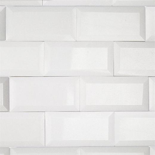 White Thos Beveled Edge 3x6 Marble Subway Tile By Soho Studio 3x6bevwtthas