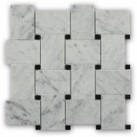 Wide Weave White Carrera Basketweave Tile by Soho Studio WDWVCRBK