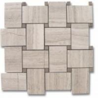 Wide Weave Wooden Beige Basketweave Tile by Soho Studio WDWVWBAG
