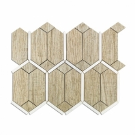 Wood Jet Prunus Gray Wood Look Porcelain Hexagon Tile by Soho Studio WJPRUNUS