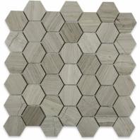 """Wooden Beige 2"""" Wood Look Hexagon Tile by Soho Studio HEX2INWDB"""