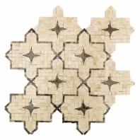 Zagora Series Crema Marfil Arabesque Tile by Soho Studio ZAGORACRMDRKEMP