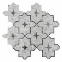 Zagora Series White Carrara Arabesque Tile by Soho Studio ZAGORAWTCRBARD
