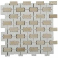 Rebus Crema Marfil & Thassos Mosaic Tile by Soho Studio RBSTHSCRM