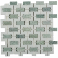 Rebus Ming Green & Thassos Mosaic Tile by Soho Studio RBSTHSMNG