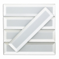 Reflection Arctic Glam Beveled Mirror Subway Tile by Soho Studio REFLCARCTGLAM