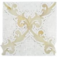 Regalia White Thassos Mosaic Tile by Soho Studio REGTHSWHTONYX