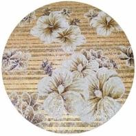 Rug Series- Floral Aura Circle Mosaic Tile by Soho Studio RUGFLRLCRCAURA