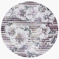 Rug Series- Floral Lilac Circle Mosaic Tile by Soho Studio RUGFLRLCRCLILAC