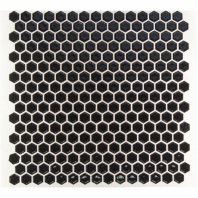 Simple Polished Black Hexagon Tile by Soho Studio SMPHEXSLDPLBLK