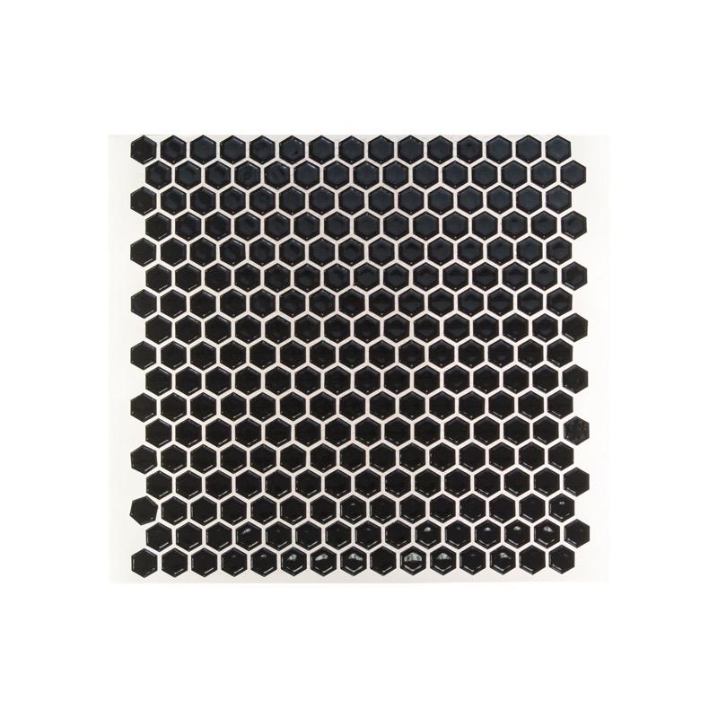Simple Polished Black Hexagon Tile by Soho Studio ...