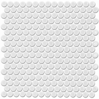 Simple Penny Rounds Matte White Circle Tile by Soho Studio SMPPNYSLDMTWHT