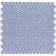 Simple Azure Hexagon Tile by Soho Studio SMPHEXAZURE