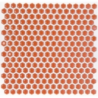 Simple Tangerine Hexagon Tile by Soho Studio SMPHEXTANGRN