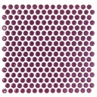 Simple Penny Rounds Plum Circle Tile by Soho Studio SMPPNYPLUM