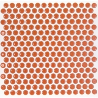 Simple Penny Rounds Tangerine Circle Tile by Soho Studio SMPPNYTANGRN