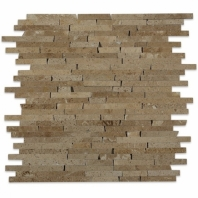 Styx Noche Travertine Interlocking Mosaic Tile by Soho Studio STYXNOCHTRAV