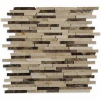 Styx Woodland Blend Interlocking Mosaic Tile by Soho Studio STYXWOODLND