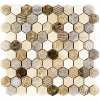 Surface Tech Hex Caramel Hexagon Tile by Soho Studio SRFHEXCARML