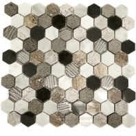 Surface Tech Hex River Bed Hexagon Tile by Soho Studio SRFHEXRIVRBED