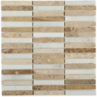 Surface Tech Brick Bogota Beige Stacked Mosaic by Soho Studio SRFBRKBOGTB