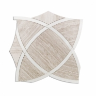 Zephyr Series Woodenbeige Geometric Tile by Soho Studio ZYPHRWDBGWHT