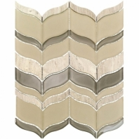 Mosaic Jet Acer Autumn Beige Chevron Tile by Soho Studio MJACERAUTUMN