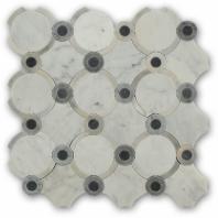 Mosaic Jet Arabesque Carrera Blend Mosaic Tile by Soho Studio MJARABESWTCR