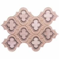 Mosaic Jet Emblem True Beige Arabesque Tile by Soho Studio MJEMBTRBTAUPWDB