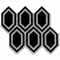 New Era Black Long Hexagon Mosaic Tile by Soho Studio NERAASNBLK