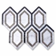 New Era Carrara Long Hexagon Mosaic Tile by Soho Studio NERACARLAGBL