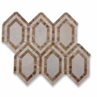 New Era Crema Marfil Long Hexagon Mosaic Tile by Soho Studio NERACRMGD