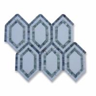 New Era Thassos Long Hexagon Mosaic Tile by Soho Studio NERATHSMGLB