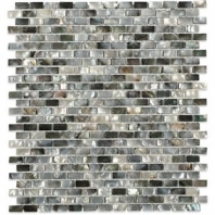 Pearl Brick Black Lip Pearl Backsplash by Soho Studio PRLBRKBLKLIP