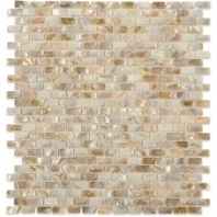 Pearl Freshwater Flat Bricks Pearl Backsplash by Soho Studio PRLBRKFRSHFLT