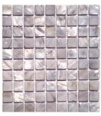 Pearl Mist Gray Flat Squares Pearl Backsplash by Soho Studio PRLSQGRYMST