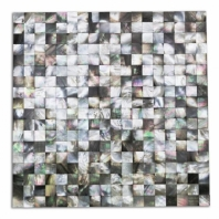 Pearl Seamless Black Lip Squares Pearl Backsplash by Soho Studio PRLSMLBLKLIPSQ