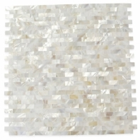 Pearl Seamless Bricks White Pearl Backsplash by Soho Studio PRLSMLSBRKWT