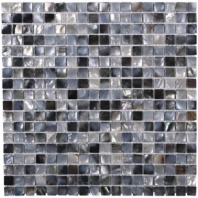 Pearl Squares Black Lip Pearl Backsplash by Soho Studio PRLSQBLKLIP