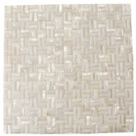 Pearl Weave 3D White Pearl Backsplash by Soho Studio PRLWV3DWT