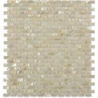 Pearl White Flat Mini Brick Pearl Backsplash by Soho Studio PRLBRKWTFLT