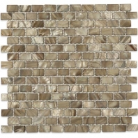 Pearl Anchor Gray Flat Bricks Pearl Backsplash by Soho Studio PRLBRKANCGRY