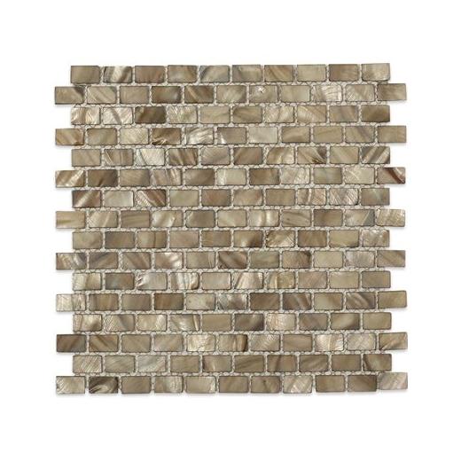 Pearl Anchor Gray Flat Bricks Pearl Backsplash by Soho Studio PRLBRKANCGRY