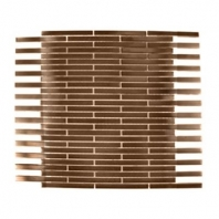 Brush Metal Copper 3/8x4 Brick Metal Tile by Soho Studio METBRKCPR